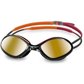 Head ÖTILLÖ Tiger Mid Race Mirrored Okulary pływackie pomarańczowy/czarny